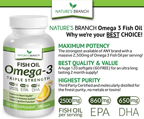 Best triple strength omega 3 fish oil supplements 2 500mg for Fish oil pills for weight loss