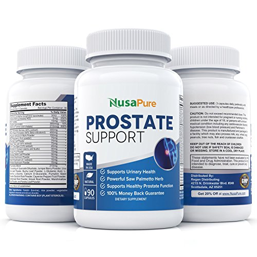 Potent Prostate Support Saw Palmetto Supplement Supports